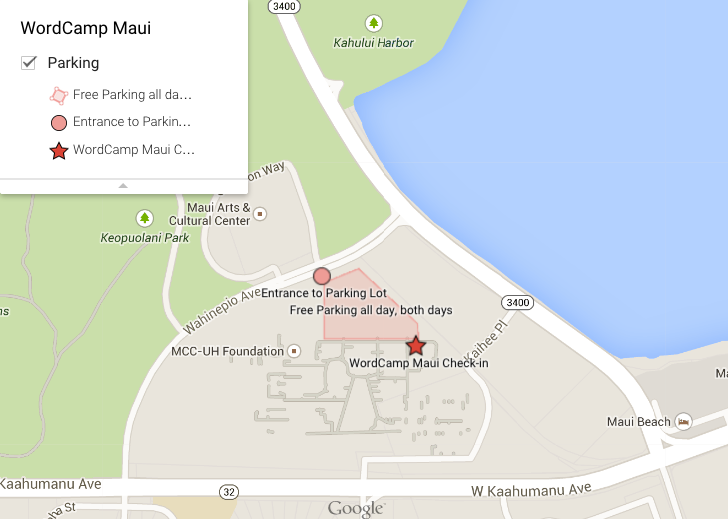 WordCamp Maui Map